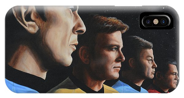 IPhone Case featuring the painting Heroes Of The Final Frontier by Kim Lockman