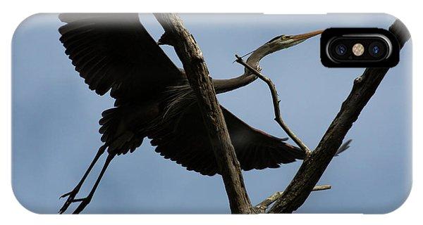 Heron Flight IPhone Case