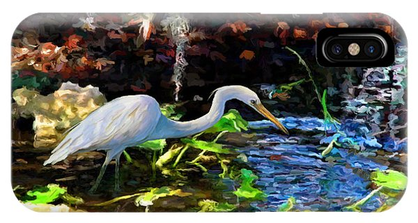 Heron In Quiet Pool IPhone Case