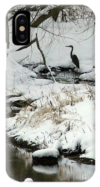 Heron In Winter IPhone Case