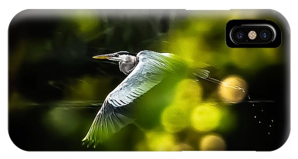 IPhone Case featuring the photograph Heron Launch by Jim Proctor