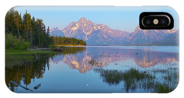 Heron On Jackson Lake IPhone Case