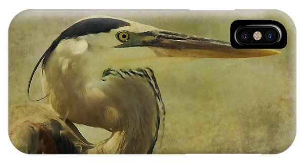 Heron On Texture IPhone Case