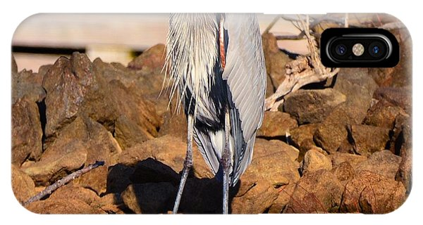 IPhone Case featuring the photograph Heron On The Rocks by Lisa Wooten