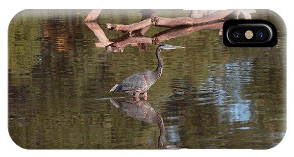 Heron Reflection IPhone Case