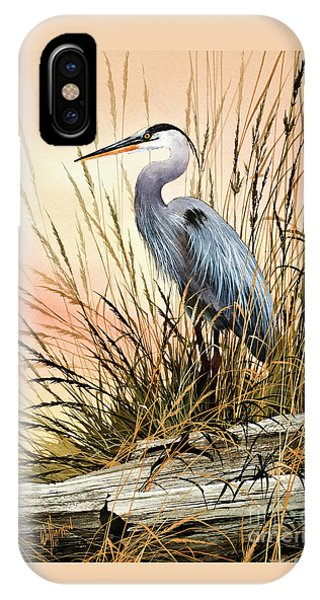 Heron iPhone Case - Heron Sunset by James Williamson