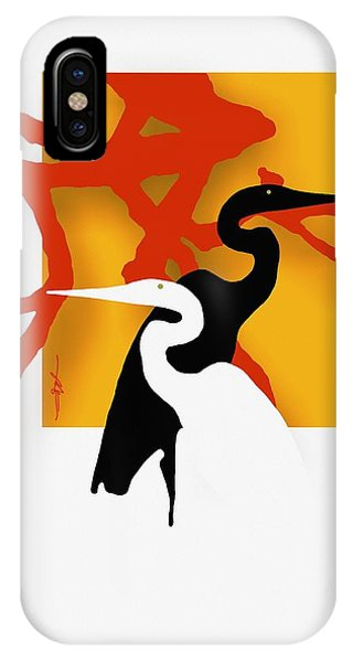 Egrets iPhone Case - Herons  by Bob Salo