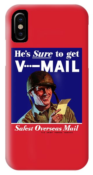 World War Two iPhone Case - He's Sure To Get V-mail by War Is Hell Store