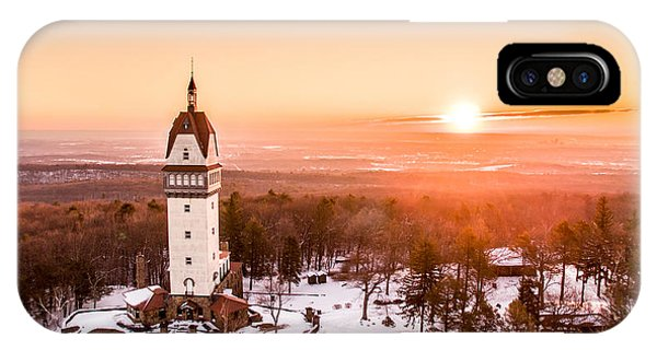 Sunrise iPhone Case - Heublein Tower In Simsbury Connecticut by Petr Hejl