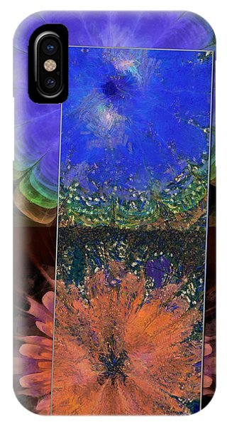 Atomic Tangerine iPhone Case - Hews Structure Flowers  Id 16165-091631-78701 by S Lurk