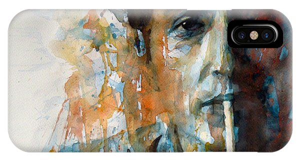 Bob Dylan iPhone Case - Hey Mr Tambourine Man @ Full Composition by Paul Lovering