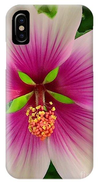 Hibiscus Face IPhone Case