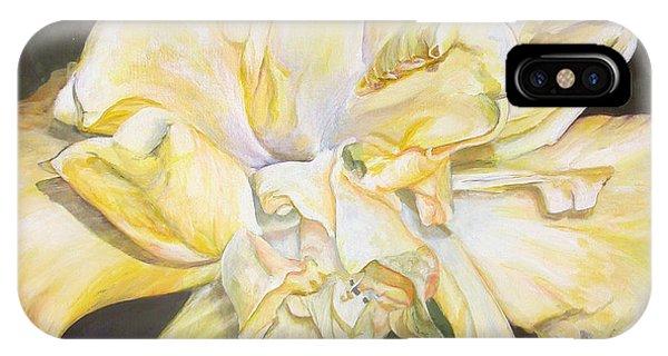Hibiscus Jaune Phone Case by Muriel Dolemieux