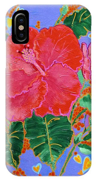 Hibiscus Motif IPhone Case