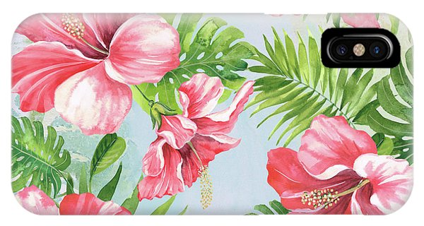 Hibiscus Flower iPhone Case - Hibiscus Paradise-jp3965 by Jean Plout