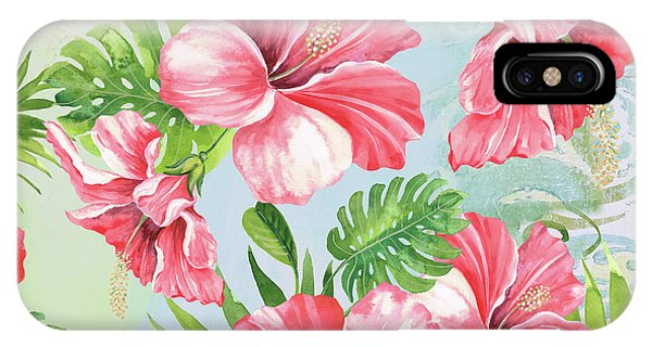 Hibiscus Flower iPhone Case - Hibiscus Paradise-jp3966 by Jean Plout