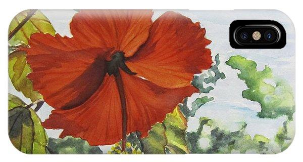Hibiscus St Thomas IPhone Case