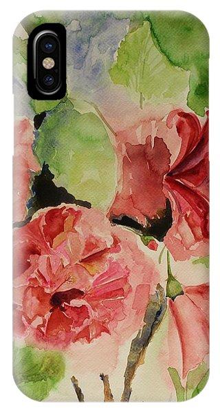 Hibiscus Stilllife In Impressionism Style IPhone Case