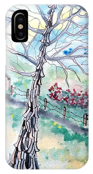 IPhone Case featuring the painting Hickory by Denise Tomasura