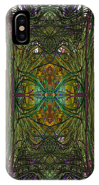 IPhone Case featuring the digital art Hidden Aztec Temple by Reed Novotny