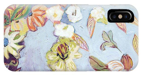 Hummingbirds iPhone Case - Hidden Lagoon Part I by Jennifer Lommers