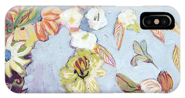Hummingbird iPhone Case - Hidden Lagoon Part I by Jennifer Lommers