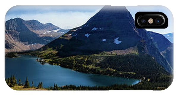 IPhone Case featuring the photograph Hidden Lake Panorama At Glacier National Park by Lon Dittrick