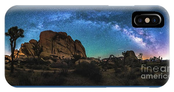 Hidden Valley Milky Way Panorama IPhone Case