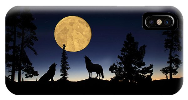 Hidden Wolves IPhone Case