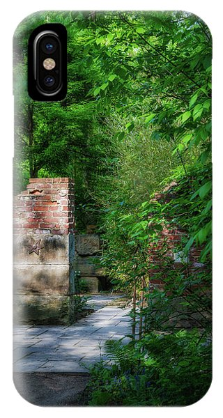 Garden Wall iPhone Case - Hideaway by Tom Mc Nemar