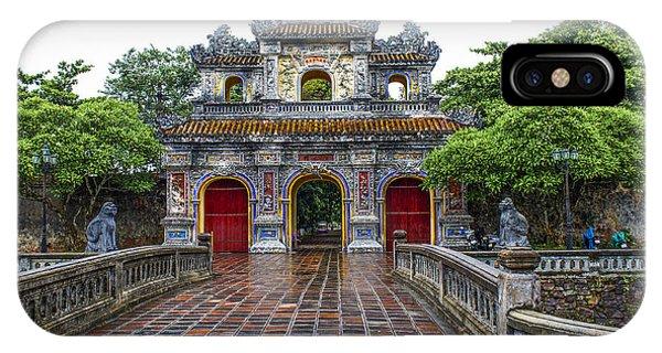 Hien Nhon Gate, Citadel, Hue,vietnam IPhone Case