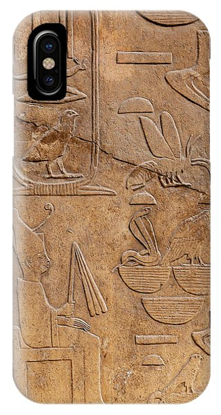 Pharaoh iPhone Case - Hieroglyphs On Ancient Carving by Jane Rix