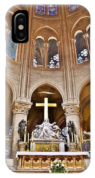 High Alter Notre Dame Cathedral Paris France IPhone Case