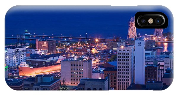 Lake Superior iPhone Case - High Angle View Of A City, Canal Park by Panoramic Images