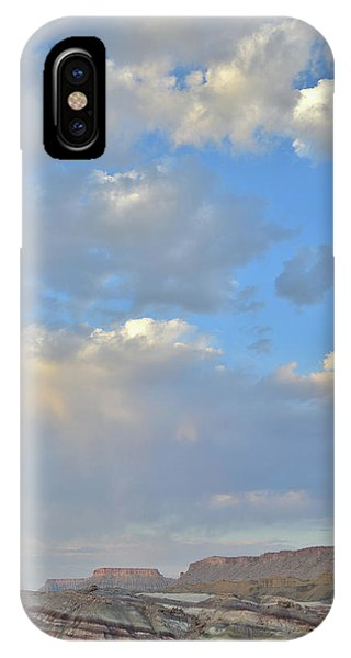 High Clouds Over Caineville Wash IPhone Case