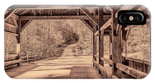 High Falls Covered Bridge IPhone Case