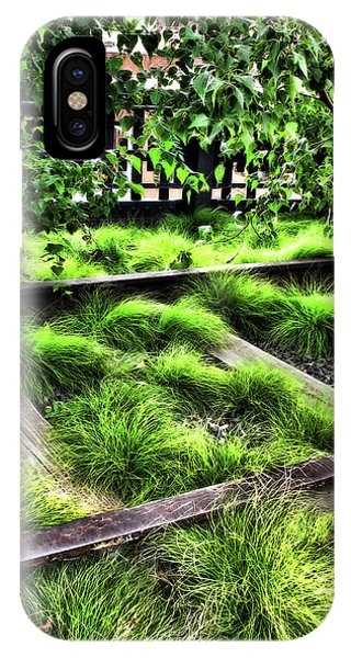 High Line Nyc Railroad Tracks IPhone Case