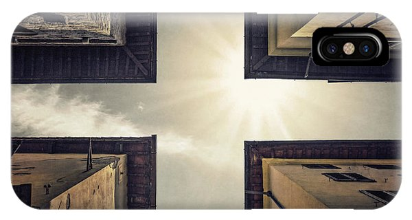 Rooftops iPhone Case - High Noon by Evelina Kremsdorf