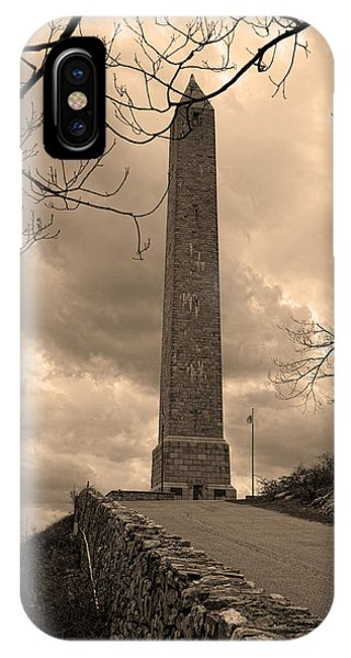 High Point Obelisk In Sepia  IPhone Case