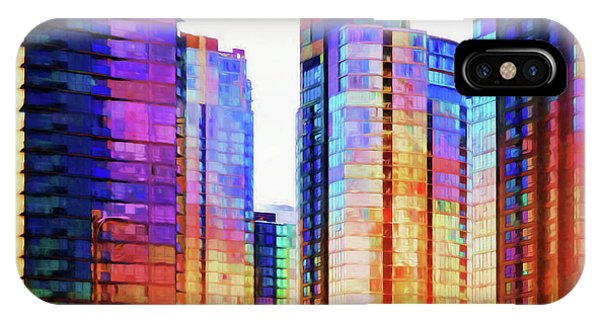 Vancouver Skyline iPhone Case - High Rise Abstract by Terry Davis