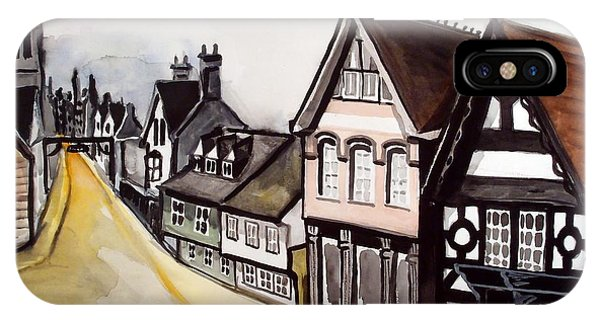 Stamford iPhone Case - High Street Of Stamford In England by Dora Hathazi Mendes