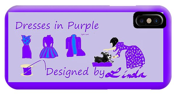 High Style Fashion, Dresses In Purple IPhone Case