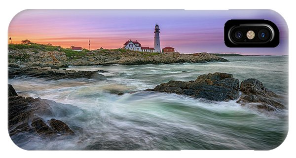 High Tide At Portland Head Lighthouse IPhone Case