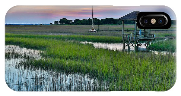 High Tide On The Creek - Mt. Pleasant Sc IPhone Case