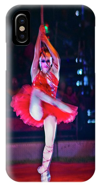 iPhone Case - High Wire In Red by Ron Morecraft