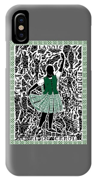 IPhone Case featuring the digital art Highland Dancing by Darren Cannell