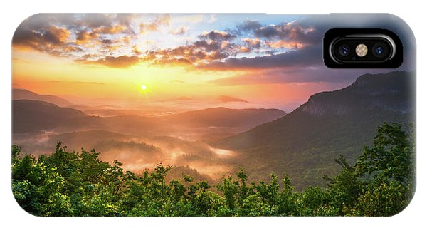 Nc iPhone Case - Highlands Sunrise - Whitesides Mountain In Highlands Nc by Dave Allen