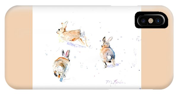 Hightailing Bunnies IPhone Case