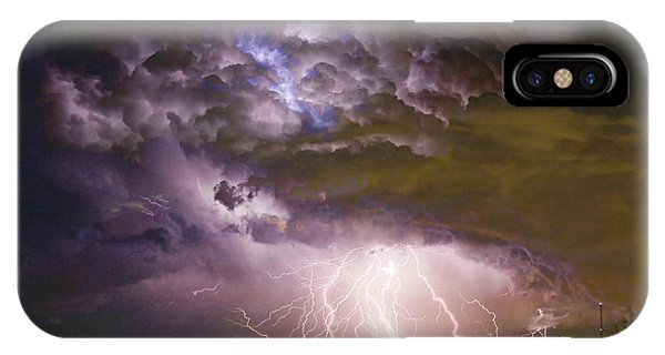 Skyscape iPhone Case - Highway 52 Storm Cell - Two And Half Minutes Lightning Strikes by James BO Insogna