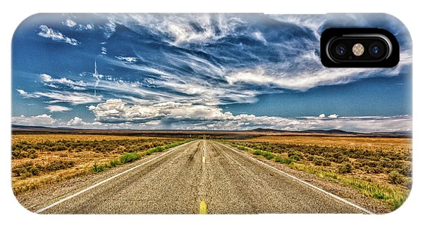 Sangre De Cristo iPhone Case - Highway 64 To Taos by Gestalt Imagery